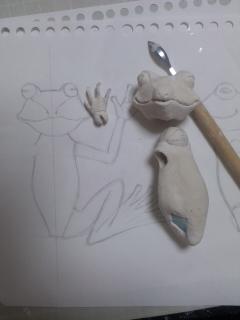 紙粘土を使って